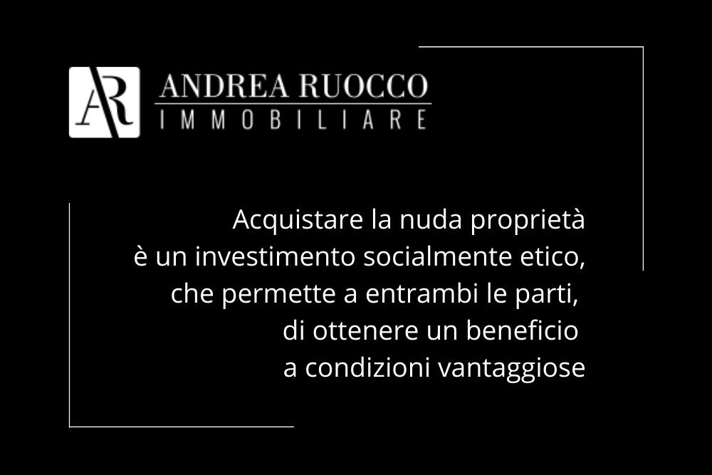 Citazione Andrea Ruocco sul valore etico dell'investimento nella nuda proprietà