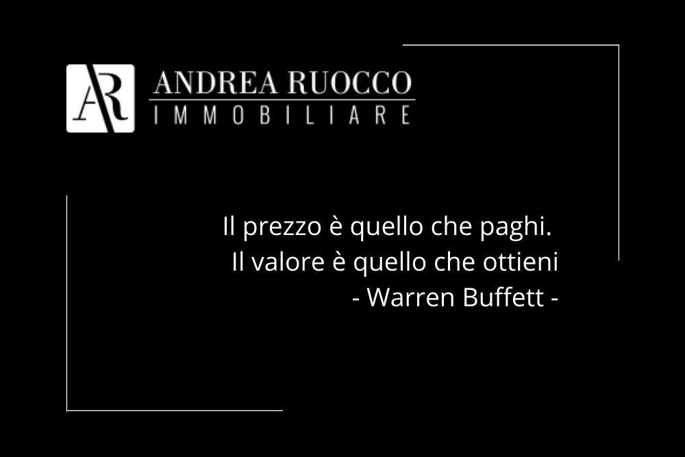 calcolo valore immobile aforisma di Warren Buffet